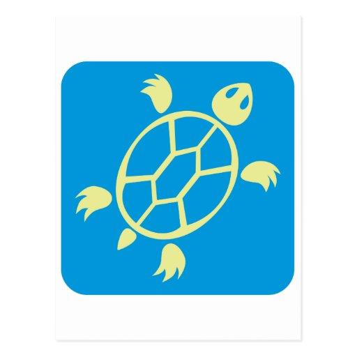 Swimming Turtle Icon Postcard