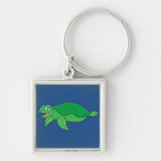 Swimming turtle keychain