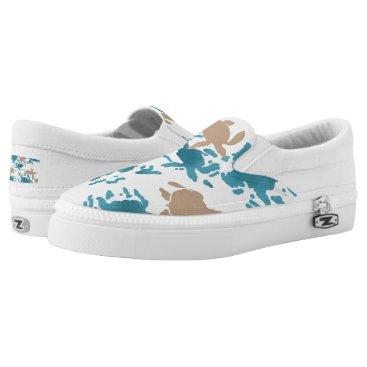 alburtonart Swimming Turtle Pattern Slip-On Sneakers