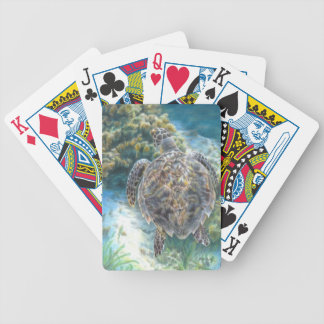 Swimming Turtle Playing Cards