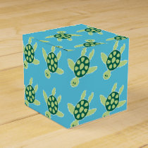 Swimming Turtles Favor Box