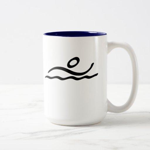 Swimming Two-Tone Coffee Mug