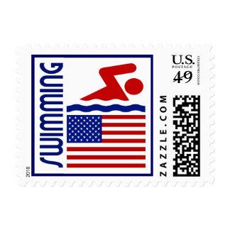 Swimming United States Postage