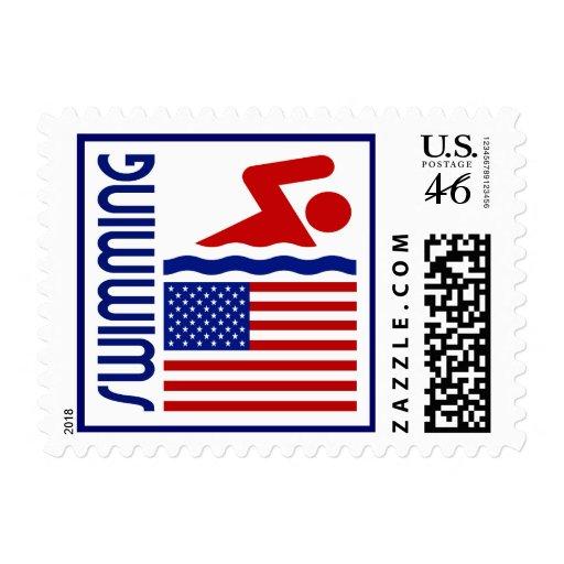 Swimming United States Postage Stamp