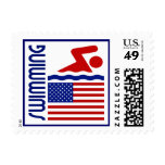 Swimming United States Postage Stamp