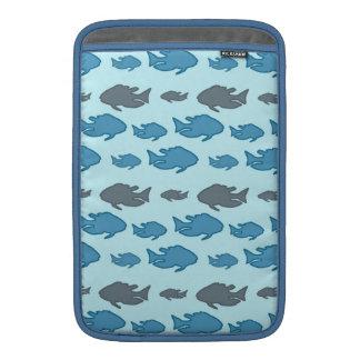Swimming Upstream Fish MacBook Sleeves