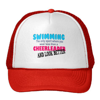 Swimming vs Cheerleading Mesh Hat