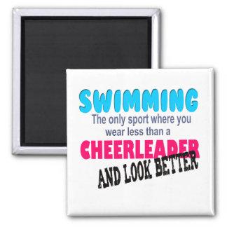 Swimming vs Cheerleading Fridge Magnet