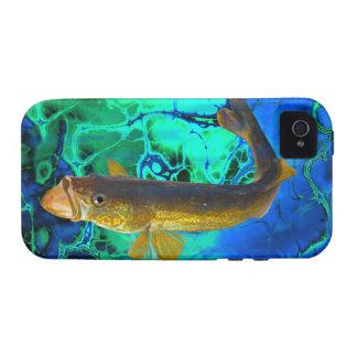 Swimming Walleye, Pickerel Fish Art Case-Mate iPhone 4 Cases