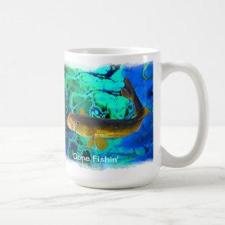 Swimming Walleye, Pickerel Fish Art Coffee Mug