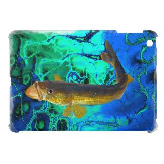 Swimming Walleye, Pickerel Fish Art iPad Mini Case