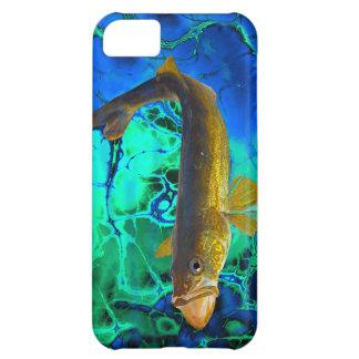 Swimming Walleye, Pickerel Fish Art iPhone 5C Cover