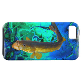 Swimming Walleye, Pickerel Fish Art iPhone SE/5/5s Case