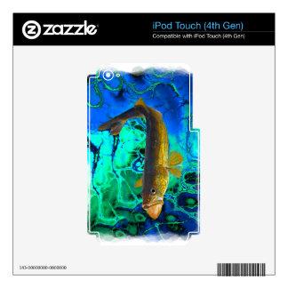 Swimming Walleye, Pickerel Fish Art iPod Touch 4G Decals