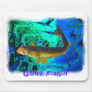 Swimming Walleye, Pickerel Fish Art Mouse Pad