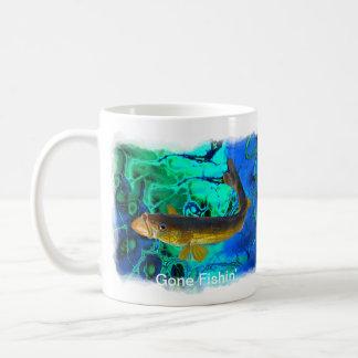Swimming Walleye, Pickerel Fish Art Mugs