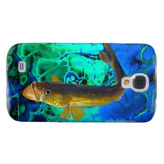 Swimming Walleye, Pickerel Fish Art Samsung S4 Case