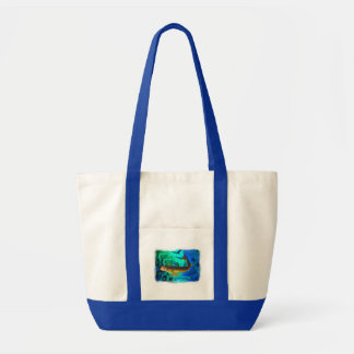 Swimming Walleye, Pickerel Fish Art Tote Bag