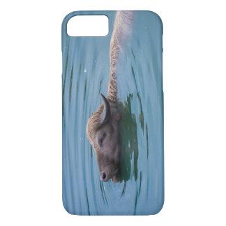 Swimming Water Buffalo iPhone 7 Case