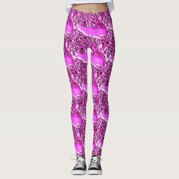 Beach Themed swimming whales pink leggings