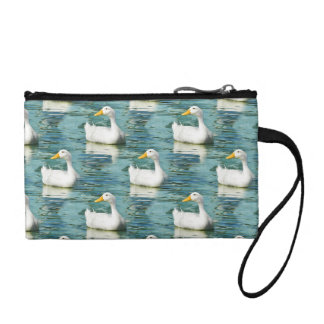 Swimming White Pekin Duck  - Nature Bird Photo Coin Wallet