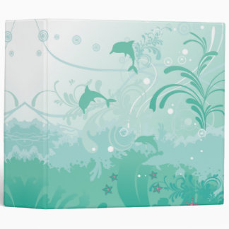 swimming with dolphins 3 ring binder