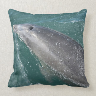 Swimming with dolphins and Dolphin Watch Throw Pillow