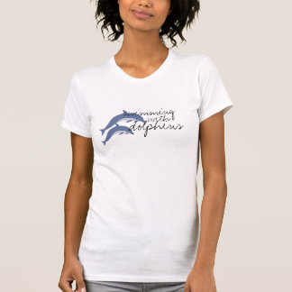 swimming with dolphins tee shirt