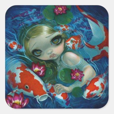 'Swimming with Koi' Sticker