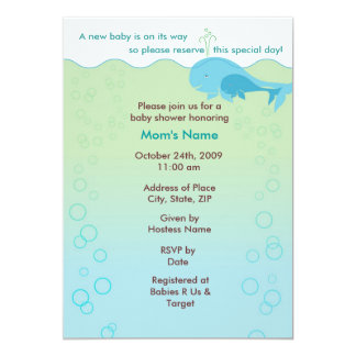 Swimming with Mama - Baby Shower Invitation
