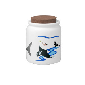 Swimming with Manta and Whaleshark Candy Jar