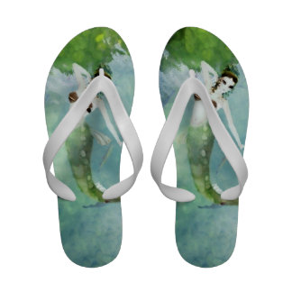 Swimming with Salmon Flip-Flops