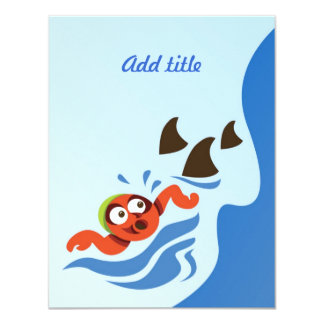 Swimming With Sharks - Card Invitation
