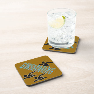 Swimming with Swimmer Beverage Coaster