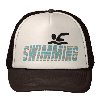 Swimming with Swimmer Trucker Hat