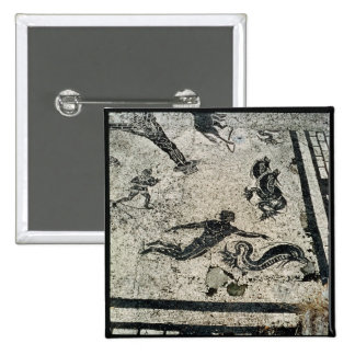 Swimming with the Dolphins, from the Frigidarium o Pinback Button