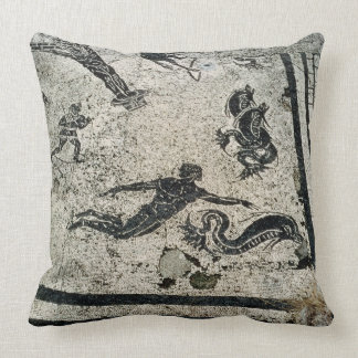 Swimming with the Dolphins, from the Frigidarium o Throw Pillow