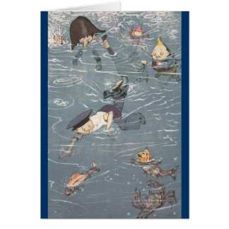 Swimming with the Fishes Greeting Cards