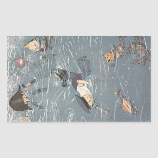Swimming with the Fishes Rectangular Sticker