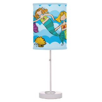 Swimming With the Mermaids Table Lamp