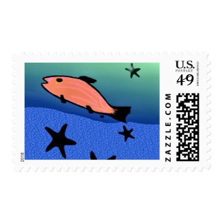 Swimming With The Stars Postage Stamp