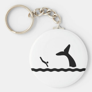 Swimming with the Whales Keychain