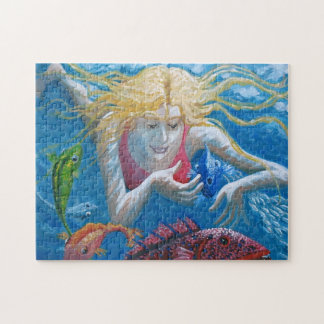 Swimming with tropical fish jigsaw puzzle