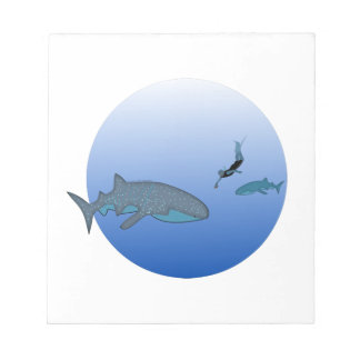 Swimming with Whaleshark Notepad