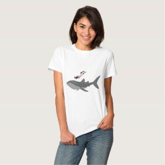 Swimming with Whaleshark T Shirt