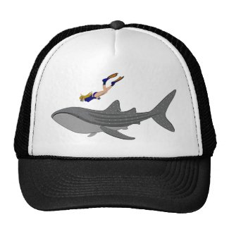 Swimming with Whaleshark Trucker Hat