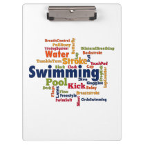 Swimming Word Cloud Clipboard