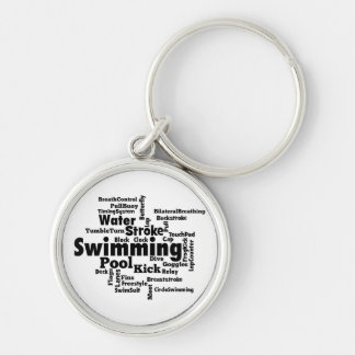 Swimming Word Cloud Keychain