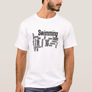 Swimming WordCloud!  Pick the color of your T! T-Shirt