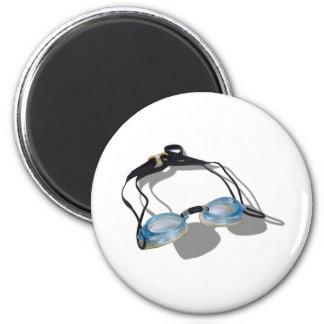 SwimmingGoggles091210 2 Inch Round Magnet
